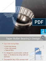 Taper roller bearings available in various versions
