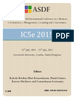 Proceedings of International Conference on eBusiness, eCommerce, eManagement, eLearning and eGovernance