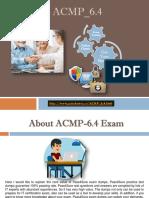 Pass4Sure ACMP_6.4 Braindumps Questions