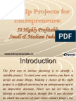 Start-Up Projects for Entrepreneurs 50 Highly Profitable Small & Medium Industries