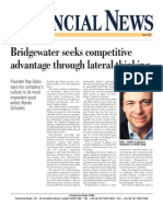 Bridgewater seeks competitive advantage through lateral thinking