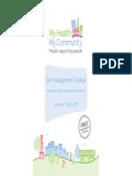 My Health My Community - Self-management College Prospectus