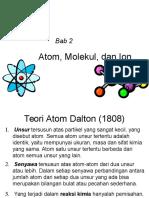 Bab 2 Atom, Molekul, Ion