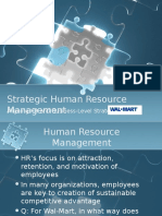 Strategic Human Resource Management