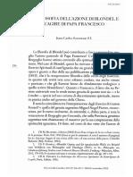 Scannone La Filosofia Dell'Azione Di Blondel e l'Agire Di Papa Francisco