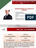 Pal. 22.1.2015 - Dr. André Borges de Carvalho- Ações Possessórias - Novo Cpc