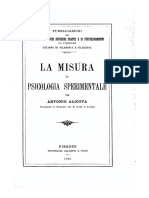 Aliotta, A. (1905). La Misura in Psicologia Sperimentale. Firenze. Galletti e Cocci.