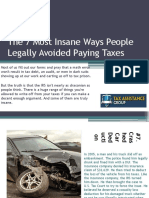 The 7 Top Insane Ways People Legally Avoided Paying Taxes