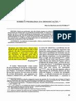 OLIVEIRA, Marcos - Popper Sobre Demarcação