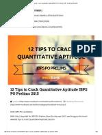12 Tips to Crack Quantitative Aptitude IBPS PO Prelims 2015 - Mockbank Bulletin