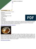 Comidas y Platos Típico Tradicionales de Venezuela