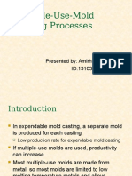 Multiple Use Mold Casting Processes
