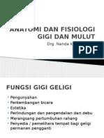 Anatomi Dan Fisiologi Gigi Dan Mulut