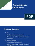 Data Presentation and Interpretation