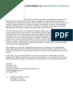 Letter for DEEP Awareness