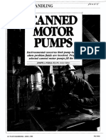 Canned motoer pump