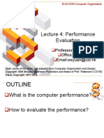 Lecture4 Performance Evaluation