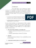 INFORME ALCANTARILLADO