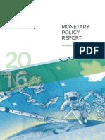 Monetary Policy Report - January 2016