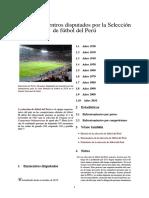 Anexo_Encuentros Disputados Por La Selección de Fútbol Del Perú