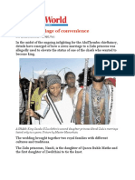 SA- Princess Nandi Zulu and Thembu Prince, A Marriage of Convenience
