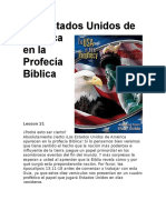 Los Estados Unidos de América en La Profecía Bíblica