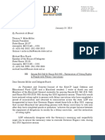LDF letter to the Maryland State Senate and the Maryland House of Delegates urging them to restore the voting rights of people with felony convictions