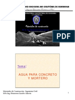 Tema 6 - Agua Para Concretos y Morteros