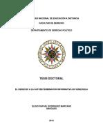 Tesis Doctoral Autodeterminación Informática Ley de Acceso Información Pública 2013