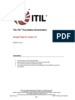 ITIL Foundation Examination Sample B v4.0 Combined