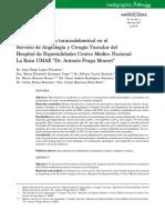 Anaerusmia Aortico Toracoabdominal en El Servicio de Angiologia y Cirugia Vascular Del Cmnlr