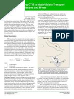 Using OTIS to Model Solute Transport in Stream & Rivers