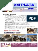Mar Del Plata 2016 - Tobas Tours