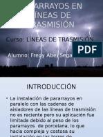 PARARRAYOS EN LÍNEAS DE TRANSMISIÓN