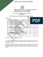 Jntua ECE R13 Syllabus