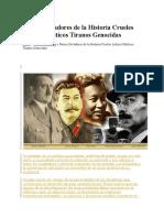 Peores Dictadores de La Historia Crueles Lideres Politicos Tiranos Genocidas