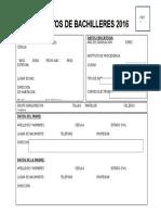 Datos Bachiller 2016 Efofac Amgnb - Notilogía