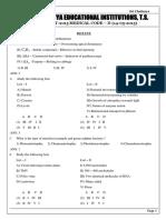 TS Eamcet 15 Medical MEDICAL