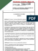 Ley 1383-2010 (Reforma Código de Tránsito)