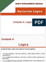 Raciocínio Lógico - Unidade 4