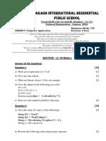 Computer Applications ICSE Model Papepr 2016