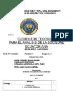 Realidad Nacional del año 2010 en Quito Ecuador