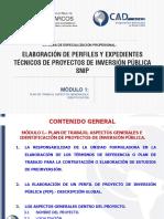 ELABORACIÓN DE PERFILES Y EXPEDIENTES TÉCNICOS