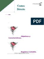 59408206 COSTEO DIRECTO Objetivoa y Caracteristicas Registro Contable Casos en Los Que Se Recomienda Su Uso Ventaja y Desventajas y Comparacion Entre Coste
