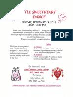 Sweetheart Dance Flyer