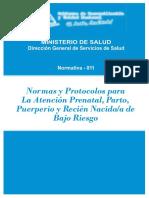I Normas y Protocolo Para La Atencion Prenantal, Parto Puerperio (1)