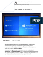 Windows 10 Gratis Para Clientes de Windows 7 y Windows 8