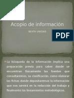 Acopio de Información Expo Unidad 6