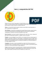 Estructura y Composición Del Sol
