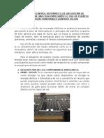 Circuito de Control Automatico de Un Sistema de Iluminación Para Una Casa Empleando El Uso de Fuentes de Energías Renovables